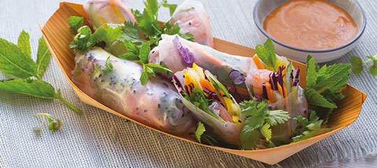 Vietnamesische Summer-Rolls mit Garnelen